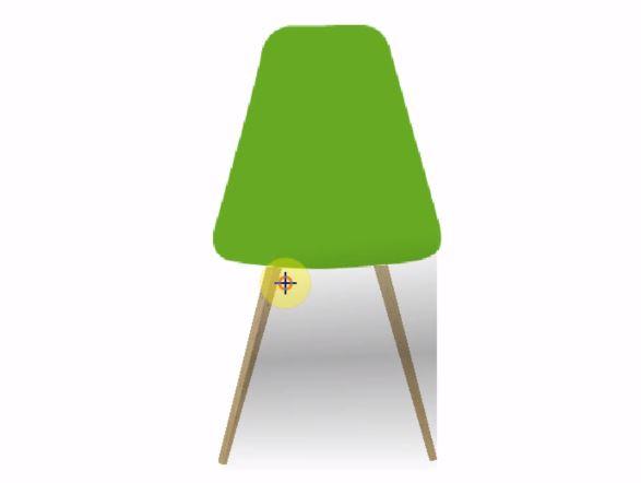 椅子の下に椅子本体の影を付ける