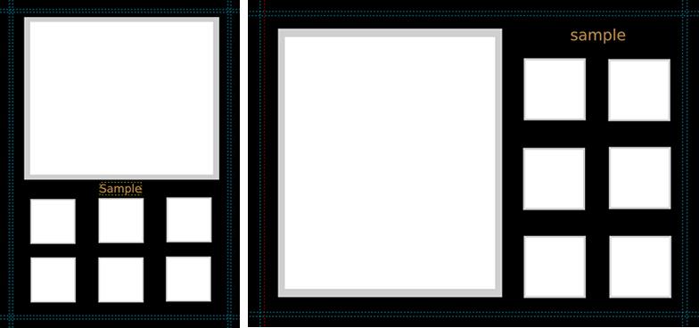 GIMP用A4テンプレート販売