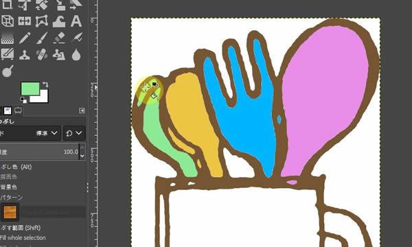 GIMP2.10日本語化されて便利になったおすすめの使い方塗り編