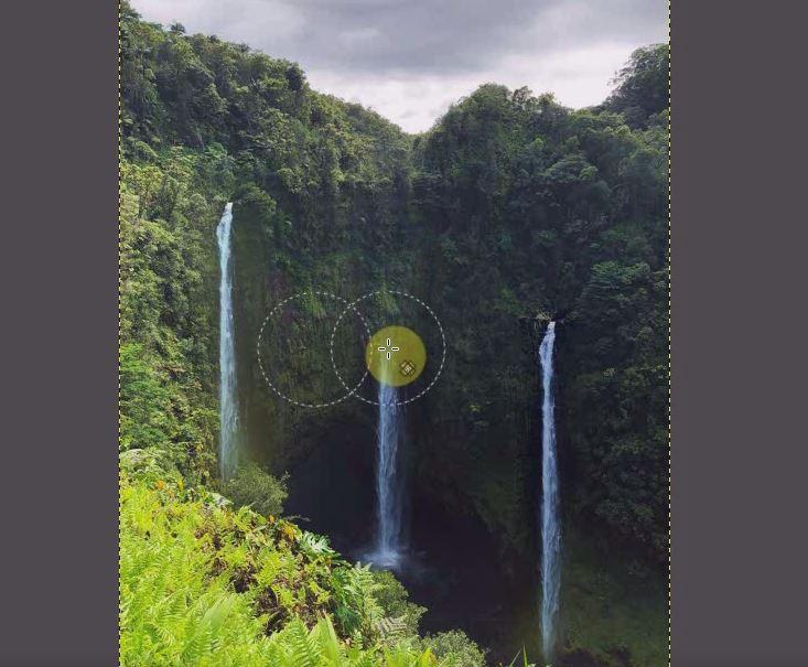 滝を増やした方法で、滝を消してみます。