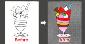 GIMPは初心者でも簡単に手書きの絵に色塗りできる!