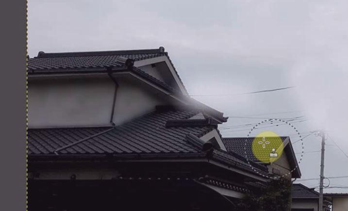 屋根も消える